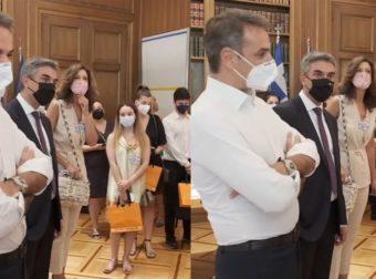 Μπερδεύτηκε ο Μητσοτάκης και ευχήθηκε «καλό καλοκαίρι» στους μαθητές